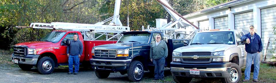 Employees and their trucks in Uniontown, OH